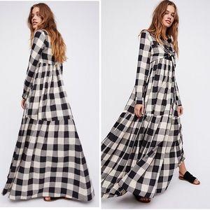 NWOT MARA HOFFMAN Faye Buffalo Check Maxi Dress
